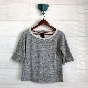 Dolan Anthro Heathered Gray Raw Hem Sweater Top